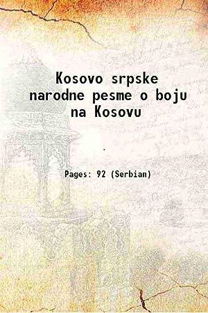 Kosovo srpske narodne pesme o boju na