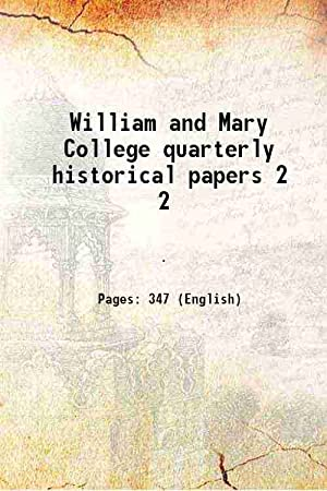 William and Mary College quarterly historical papers