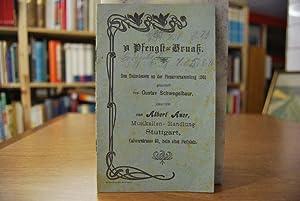`n Pfengst-Gruaß Den Teilnehmern an der Plenarversammlung 1901: Schwegelbaur, Gustav: