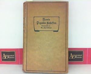 Bild des Verkäufers für Kants Populäre Schriften - Unter Mitwirkung der Kant-Gesellschaft herausgegeben. zum Verkauf von Antiquariat Deinbacher