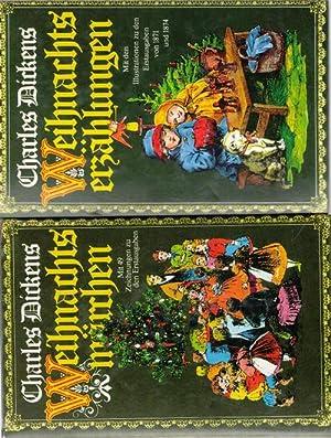 Weihnachtsmärchen / Weihnachtserzählungen 2 illustrierte Bände von Charles Dickens,: Dickens, ...