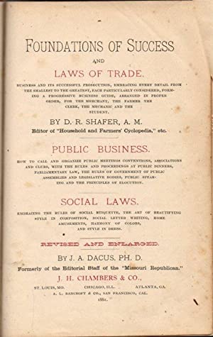 Foundations of Success and Laws of Trade: Public Business: Social Laws