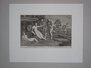 "Incaute Acteon, tibi quod . Diana, Visa sit, humana .(""). Nach Domenicus Zamper.: Frezza, ..."
