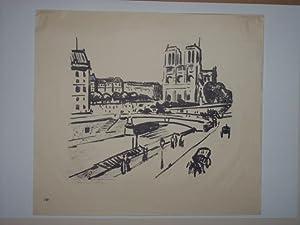 Paris. Straßenpartie.: Hofmann-Juan, Fritz, d.i. Hofmann, Max: