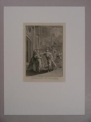 """C` est moi que tu trahis: tombe à mes pieds parjure(""""). Illustration zum Werk `Zaire`, Akt V, ..."""