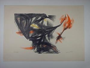 Komposition in Schwarz, Rot und Gelb.: Fietz, Gerhard: