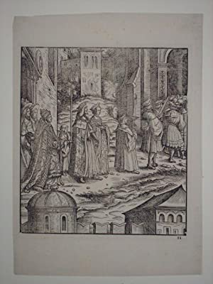 Der verheiratete König, seine Frau und der Papst verlassen St. Peter. Blatt 11 aus dem Werk ...