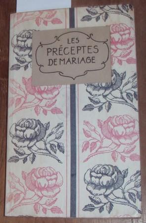 Les préceptes de mariage. Traduits du Grec de Plutarque par Jacques Amyot.: Plutarch: