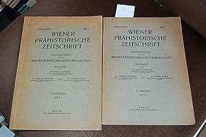 Wiener prähistorische Zeitschrift. I. Jahrgang, Heft 3; II. Jahrgang, Heft.1.: Hoernes, Moritz: