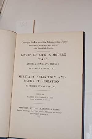 Carnegie Endowment for International Peace. 2 Teile: 1.: Gaston Bodart, Losses of life in modern ...
