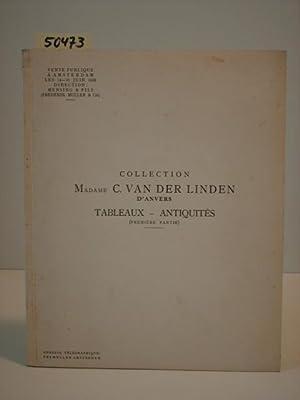 Tableaux anciens - Antiquités. Collection Mme. C. van der Linden, d`anvers. Première partie. Vente ...