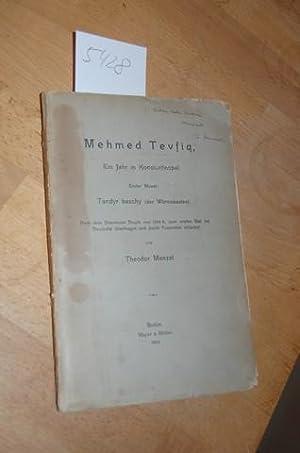 Mehmed Tevfiq, Ein Jahr in Konstantinopel. Erster Monat: Tandyr baschy (der Wärmekasten). Nach dem ...