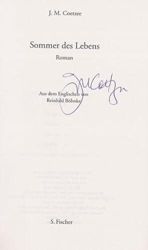 Sommer des Lebens Roman.: Coetzee, J.M.