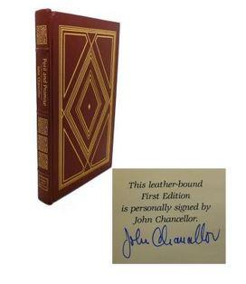 Peril and Promise. A Commentary on America. Signed First Edition. Bound in Genuine Leather.,