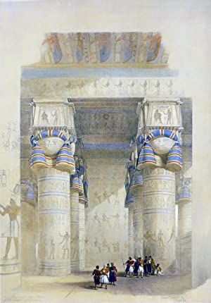 VIEW FROM UNDER THE PORTICO OF THE: Roberts David; [Egypt,