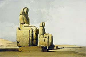 THEBES [Showing the Colossi of Amunophis III,: Roberts David; [Egypt]