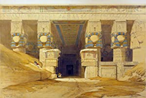 DENDERA [View of the Temple of Hathor,: Roberts David; [Egypt]