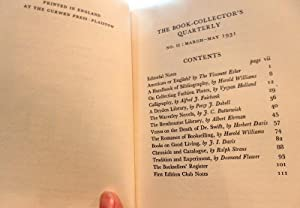 The Book Collectors Quarterly Nos 1-12. (of 17): Desmond Flower & A. J. Symons