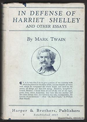 In Defense of Harriet Shelley and Other: TWAIN, Mark (Samuel