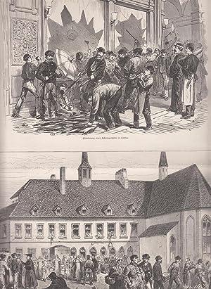 Der Arbeiteraufruhr in Belgien: 2 Abbildungen auf: Arbeiterbewegung,