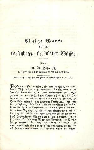 Einige Worte über die versendeten karlsbader Wässer. Aus der österreichischen medizinischen ...