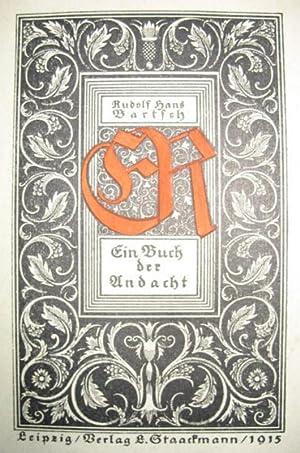 ER. Ein Buch der Andacht.: BARTSCH, Rudolf Hans: