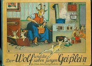 OSSWALD, Eugen: Der Wolf und die sieben jungen Geißlein. Gezeichnet von Eugen Oßwald.: SCHOLZ' ...