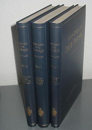 Herausgegeben von H.Geiger und Karl Scheel.: HANDBUCH DER PHYSIK. [Konvolut von 3 Bänden -umfassend...
