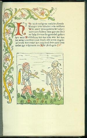 Der Ackermann aus Böhmen / Der Ackermann und der Tod.]: SCHRAMM, Albert (Hrsg.) - [JOHANNES VON ...