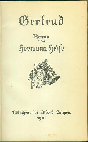 Gertrud. Roman.: HESSE, Hermann: