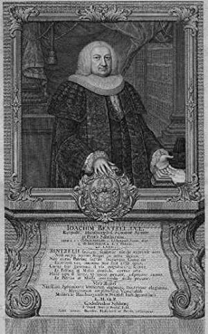 01.09.1694 - ?). Senator in Hamburg. Kupferstich: Rentzel, Joachim -