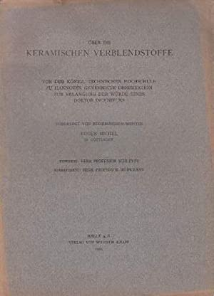 Bild des Verkäufers für Über die keramischen Verblendstoffe. Dissertation. zum Verkauf von Antiquariat Heinz Tessin