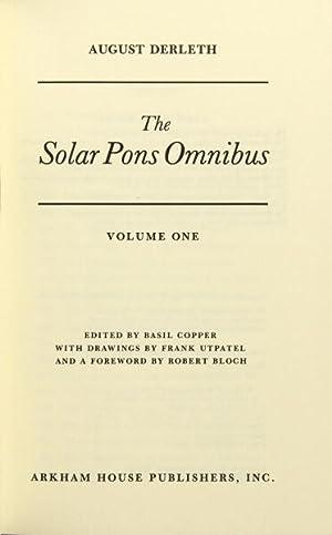 The solar pons omnibus edited by Basil: Derleth, August