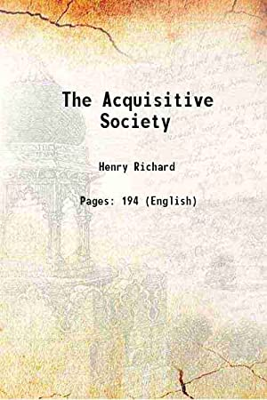 The Acquisitive Society (1920)[HARDCOVER]: R. H. Tawney