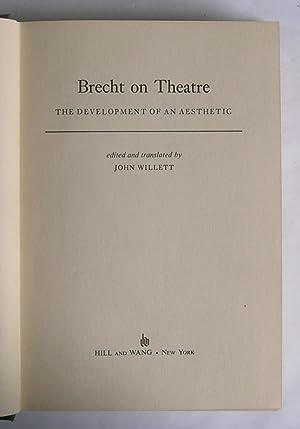 Brecht on Theatre: The Development of an: Brecht, Bertolt. Edited
