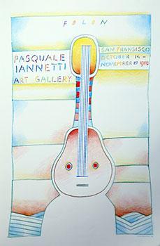 Poster for Folon Exhibition.: Folon, Jean-Michel.