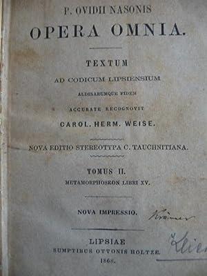 Opera Omnia Textum ad Codicum Lipsiensium: Nasonis, P. Ovidii: