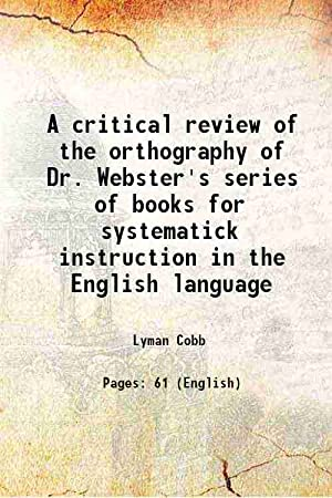 A critical review of the orthography of: Lyman Cobb