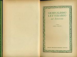 Giornalismo letterario del Settecento: PICCIONI Luigi (a