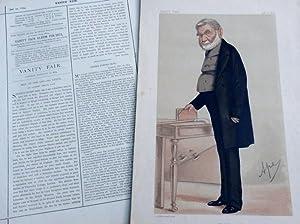 "British Library: Sir Anthony Panizzi. Keeper of Printed Books. Vanity Fair Print No 77 ""Books&..."
