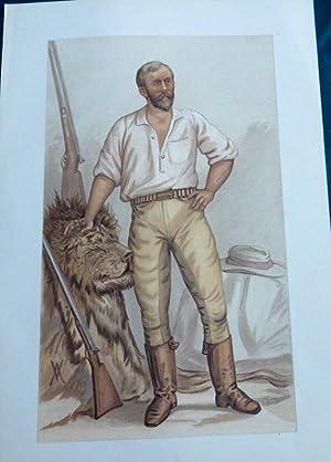 F. Courtney Selous. (Big Game Hunter/writer). Vanity Fair Print No 585.1894