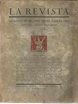 La Revista. Quaderns de mil nou cents trenta-cinc. Any XXI- Juliol-Desembre: VARIOS