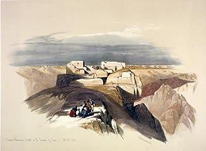 Christian and Mahometan Chapels on the summit: Roberts David; [Egypt]
