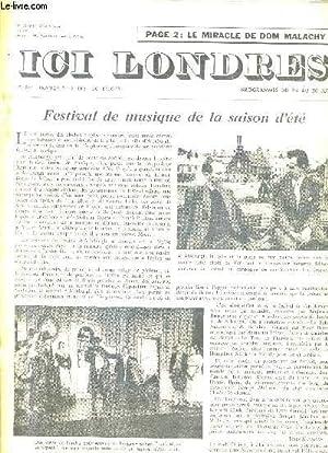ICI LONDRES N°437 22 JUIN 1956 -: COLLECTIF