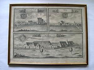 """1 Bl. Kupferstiche mit 3 Ansichten: """"Schloß: Wening, Michael (1645-1718)."""