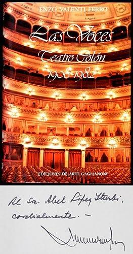 Las Voces : Teatro Colón 1908-1982: Valenti Ferro, Enzo
