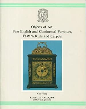 Objects of Art, Fine English and Continental