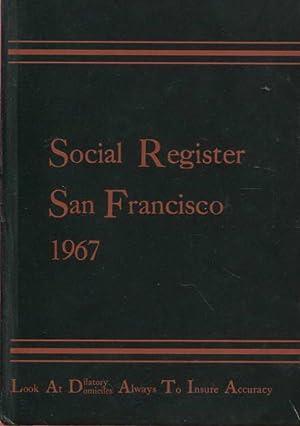 Social Register San Francisco 1967 Vol. LXXXI,: Social Register Association