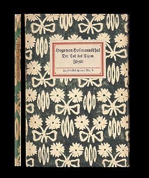 Der Tod des Tizian. Idylle. Zwei Dichtungenn.: Insel-Bücherei Nr. 8.