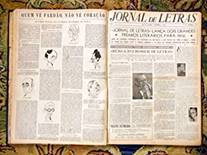 "1950 TWELVE Bound Issues RARE BRAZILIAN LITERARY NEWSPAPER ""JORNAL DE LETRAS"" #7-18"